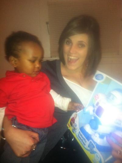 Darah celebrates Christmas with Karter